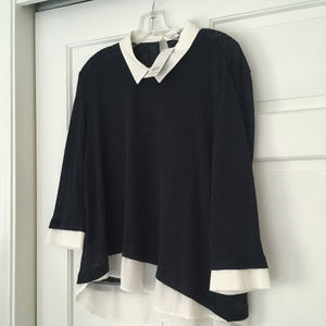 NWT Womens Navy/white top 18 Dorothy Perkins